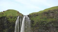Skógafoss Waterfalls in Iceland Stock Footage