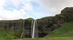 Iceland has some of the most lovely waterfalls in the world Stock Footage