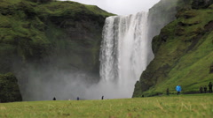 Skogafoss  Skógar / Southern Ring Road, South Region, Iceland Stock Footage