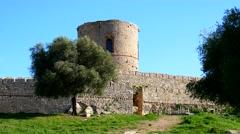 Castle Jimena de la Frontera, Cadiz, Spain (4K) - stock footage