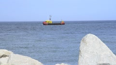 Dredging ship in the Baltic Sea Stock Footage