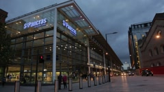 Wide of London St Pancras Stock Footage