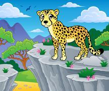 Cheetah theme image - eps10 vector illustration. Stock Illustration