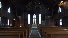 Traditional evangelic church inside Harz village Braunlage Stock Footage