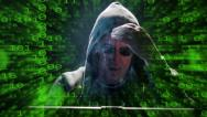 Stock Video Footage of internet hacker binary code fly zoom out 4k UHD 11631