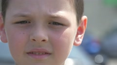 4k, portrait of a little boy, close-up 1 Stock Footage