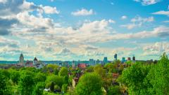 Vilnius, Lithuania, panoramic time-lapse Stock Footage
