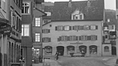 Winfelden, Switzerland 1941: life in a small town at war time Stock Footage