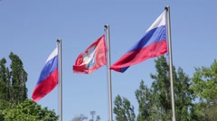 Russian flags, Crimea, Sevastopol 2015 Stock Footage