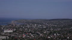View of the port city of Theodosius the mountain Stock Footage