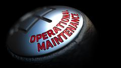 Stock Illustration of Operational Maintenance on Gear Stick with Red Text