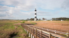 4K Bodie Island Lighthouse Timelapse 2a Stock Footage