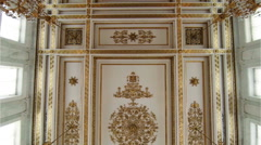 Stock Video Footage of The magnificent ceiling Hermitage.