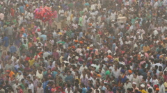 Colorful crowds in India Stock Footage