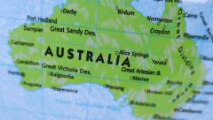 Australia. Terrestrial Globe 4K - stock footage