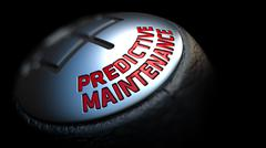 Predictive Maintenance on  Gear Stick with Red Text - stock illustration