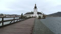 Schloss Ort - Gmunden Austria Stock Footage