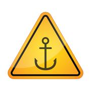 Stock Illustration of Danger signal icon with an anchor