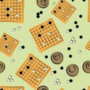 Seamless Texture for Baduk Tournament Advertisement - stock illustration