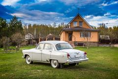 Vintage car GAZ M21 Volga - stock photo