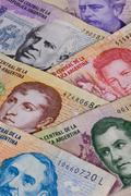 Various banknotes from Argentina Stock Photos