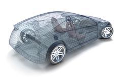 Car design, wireframe model. My own design. Stock Illustration