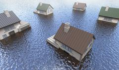 Flooded homes Piirros