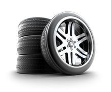 Wheels Set isolated on white - stock illustration