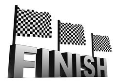 Racing Flags and Finish Piirros