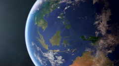 South East Asia from space Stock Footage