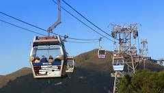 Ngong Ping 360 Cable Car Of Hong Kong Stock Footage