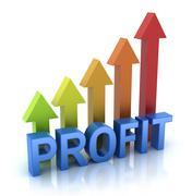Profit colorful graph concept - stock illustration
