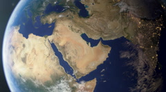 Middle East from space Stock Footage