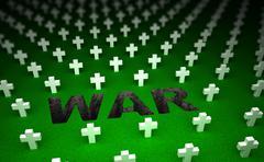 War cemetery memorial. 3D concept - stock illustration