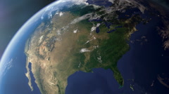 USA / North America from space - stock footage