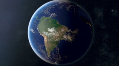 South America from Space Stock Footage