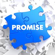 Promise on Blue Puzzle Stock Illustration