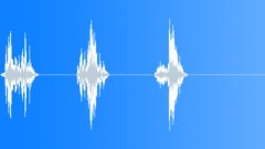 Wood Trunk Set Down x 3 Sound Effect