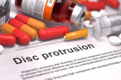 Disc Protrusion Diagnosis. Medical Concept - stock illustration