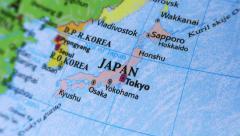 Japan. Asia. Terrestrial Globe 4K - stock footage