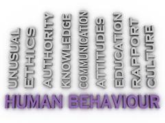 3d image Human behaviour   issues concept word cloud background Stock Illustration