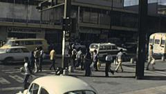 Caracas 1983: traffic in the street Stock Footage