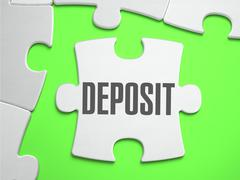 Deposit - Jigsaw Puzzle with Missing Pieces - stock illustration