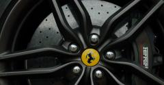 Ferrari Logo on luxury car wheel Stock Footage
