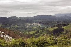 Stock Photo of magnificent landscape of the mountains of Asturias, Spain