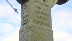 Irish High Cross - stock footage