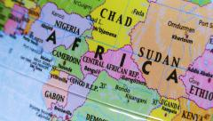 Africa. Terrestrial Globe 4K Stock Footage