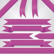 Stock Illustration of set of violet ribbons
