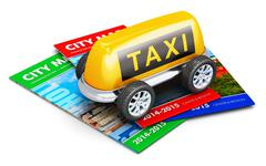 Taxi service concept - stock illustration