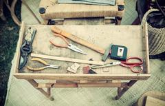 Tools for handicraft work - stock photo